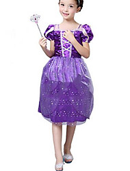 Girl's Purple Dress Cotton Summer