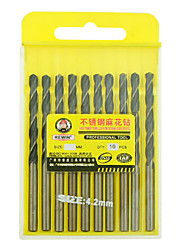 REWIN® TOOL Stainless Steel Cobalt-containing Twist Drill Diameter:4.2mm With 10pcs/box