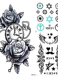 Tatuaggi adesivi - Serie fiori - Yimei - Da donna/Da uomo/Adulto/Teen - 1 - Modello - di Carta - 24*22CM - Multicolore -Non