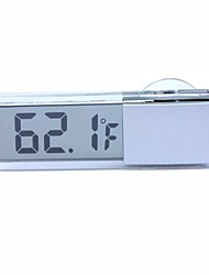 :ZIQIAO Suction Cup Type Car Thermometer Digital Display Thermometer Transparent Liquid Crystal Display