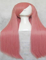 Popular Pink Synthetic Hair Woman's Cosplay Wig Long Straight Animated Wigs  Cartoon Wigs Party Wigs Full Wig