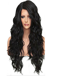 NEW!!!100% Real Unprocessed Human Hair Full Lace Wig with Baby Hair Brazilian Virgin Glueless Loose Wave Lace Wig