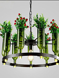 Bottle Lamps Fashion Cafe Tea Pot Plants Glass Chandelier