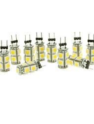 2W G4 Spot LED T 9 SMD 5050 110-140 lm Blanc Chaud Blanc Froid Blanc Naturel Rouge Bleu Jaune Vert Décorative DC 12 V 10 pièces