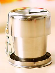 1pc 7.5 * 3 centímetros copo creativo telescópica de aço inoxidável para viajar