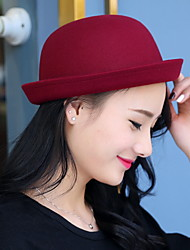 Dome Of Autumn And Winter Cashmere Woolen Hat Crimping Fashion Candy-colored Solid Topper