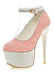 Women's Shoes Glitter Stiletto Heel Heels / Platform / Round Toe Heels Party & Evening / Dress / Casual
