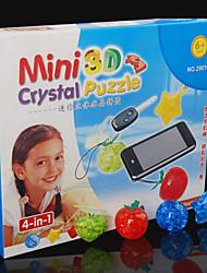 Quebra-cabeças Quebra-Cabeças 3D / Quebra-Cabeças de Cristal Blocos de construção DIY Brinquedos ABS Vermelho / Amarelo / Roxa / Verde