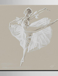 Mini Size E-HOME Oil painting Modern Dance Woman Pure Hand Draw Frameless Decorative Painting