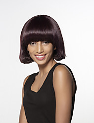 Sexy Stylish Short Straight Bob Human Hair Wig With Side Bang