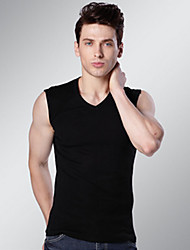 Men's Sleeveless Tank Tops,Cotton Casual / Sport Solid 916111