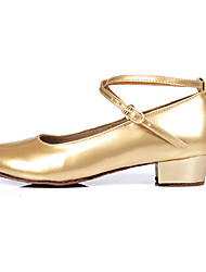 Customizable Women's  Shoes for Latin/Salsa in Silver/Gold