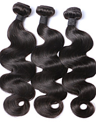 6A Brazilian Virgin Hair Body Wave Bundles Mixed Length Nature Color Wavy Human Hair