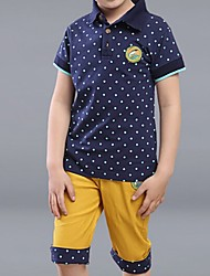 Boy's Cotton Clothing Set,Summer Polka Dot