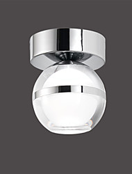 5W Modern/Contemporary LED Chrome Acrylic Ceiling Light Flush Mount Wall Light Living Room / Hallway/Bedroom