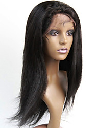 "10""-30"" Brazilian Human Hair Lace Front Wigs Natural Color Straight Half Wigs Human Hair 130% Density"