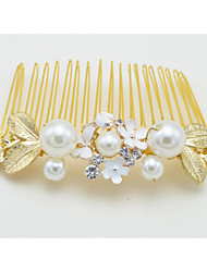 Women's / Flower Girl's Crystal / Alloy / Imitation Pearl Headpiece-Wedding / Special Occasion Hair Combs 1 Piece