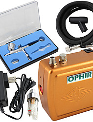 ophir 100v-240v kit compresseur aérographe portable avec double action aérographe pour le maquillage tatouage