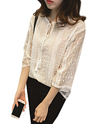 Women's Fashion Embroidery Lace Shirts