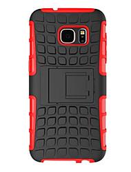 Für Samsung Galaxy S7 Edge Stoßresistent / mit Halterung Hülle Rückseitenabdeckung Hülle Panzer PC Samsung S7 edge / S7