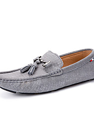 Men's Boat Shoes Casual/Drive/Party & Evening Fashion Leather Slip-on Woven Shoes Black/Bule/Gray 39-44