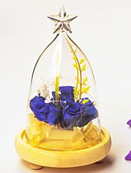 verre de style pastoral pour la décoration maison 1pc / set (vase seulement sans aucune fleur)