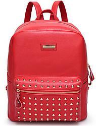 Women PU Backpack White / Blue / Red / Black