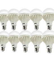 Youoklight® 10pcs e27 7w 550-600lm 12 * smd5630 550lm 6000k lampe blanche led globe bulbs (ac220v)