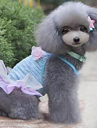 Sexy Lace Flowers Pet Dress