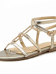 Women's Shoes Low Heel Toe Ring / Gladiator Sandals Outdoor / Dress / Casual Black / Silver / Gold