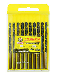 REWIN® TOOL Stainless Steel Cobalt-containing Twist Drill Diameter:5.0mm With 10pcs/box