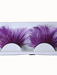 New Design Purple Eyelashes Individual False Eyelashes Lashes Accessories for Sexy Women Lady