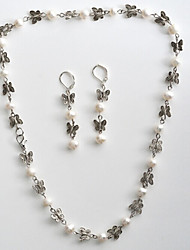 Charms Jewelry Pearl / Gem Jewelry Set Necklace/Earrings Wedding