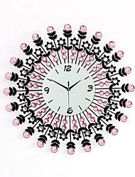 Moderne/Contemporain Famille Horloge murale,Rond Bois 60 x 60 x 3(23.62'' x 23.62'' x 1.18'') Intérieur Horloge