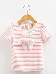 BK 3D Stripes Girl's Cotton Summer Tee