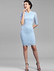 Baoyan® Damen Ständer 1/2 Ärmel Über dem Knie Kleid-160072