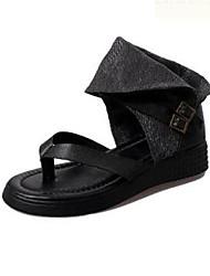 Women's Shoes  Flat Heel Flip Flops Sandals Outdoor / Casual Black