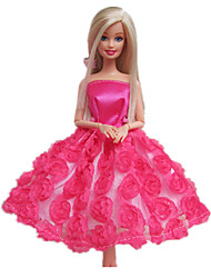 Princesse Robes Pour Poupée Barbie Fuchsia Robes Pour Fille de Doll Toy