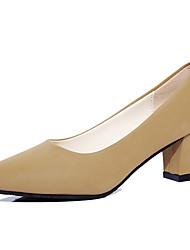Damen-High Heels-Kleid / Lässig / Sportlich-Kunstleder-Blockabsatz-Absätze / Komfort / Stifelette / Gladiator / Pumps / Spitzschuh-