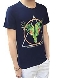 Man 3D relief printing slub cotton T-shirt animal cartoon creative shirt half sleeve T-shirt fashion tide