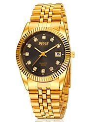 nouveau riche relógio de quartzo de ouro