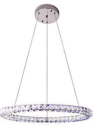 LED Crystal Pendant Light Lighting Modern Single D70CM Three Sides K9 Crystal Indoor Ceiling Lights Lamp Fixtures
