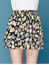 De las mujeres Faldas-Mini Casual / Boho / Vacaciones / Bonito Rígido-Poliéster