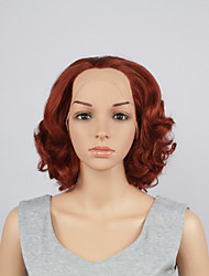 Fashion Synthetic Wigs Lace Front Wigs 10inch Bob Body Wave Fuxia Heat Resistant Hair Wigs Women