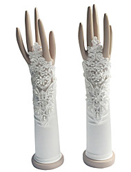 Elbow Length Fingerless Glove Cotton Bridal Gloves / Party/ Evening Gloves Spring / Summer / Fall / Winter Pearls