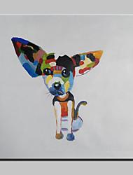 Peint à la main Abstrait / Animal / Bande dessinée / POPModern Un Panneau Toile Peinture à l'huile Hang-peint For Décoration d'intérieur