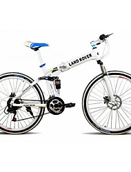 """ciclismo de freio de disco duplo de aço carbono 26 """"bicicleta de montanha de 21 velocidades"""