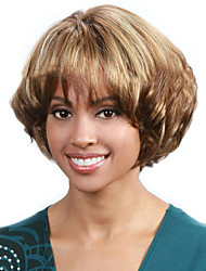 Top Quality Mixed Color Synthetic Middle Curly Synthetic Wigs