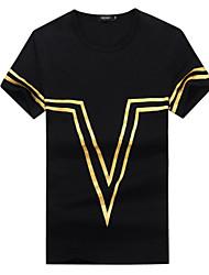 2016 Korean summer men's short sleeve T-shirt male slim fit T-shirt Mens Shirt Youth half sleeve trend