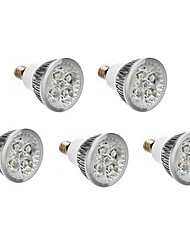 5pcs e14 4w 400-450lm chaud / naturel / froid blanc led spot 220-240v